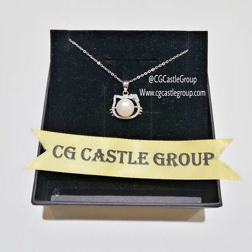 CG One Pearl Kitty Necklace