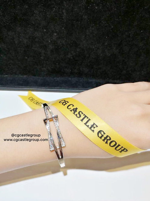CG Square Crystal Bangle