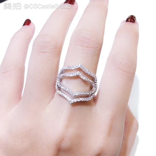 CG Big Crystal Armour Ring