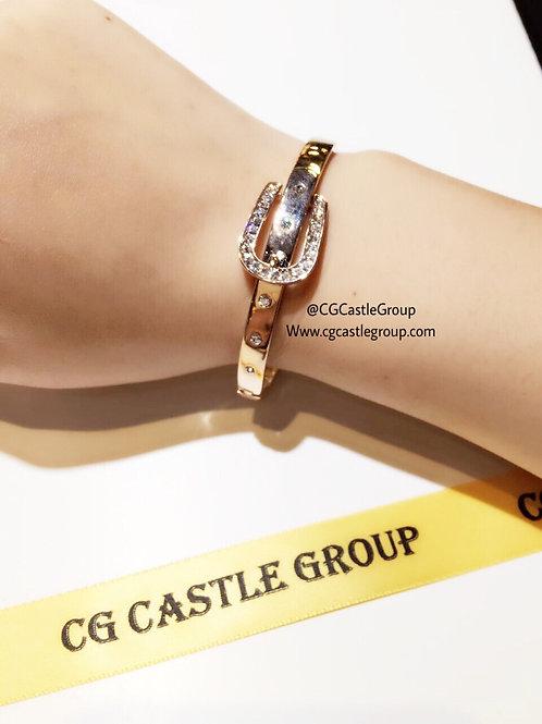 CG Crystal Belt Bangle Rosegold