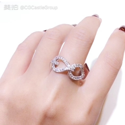 CG Big Crystal Chain Ring