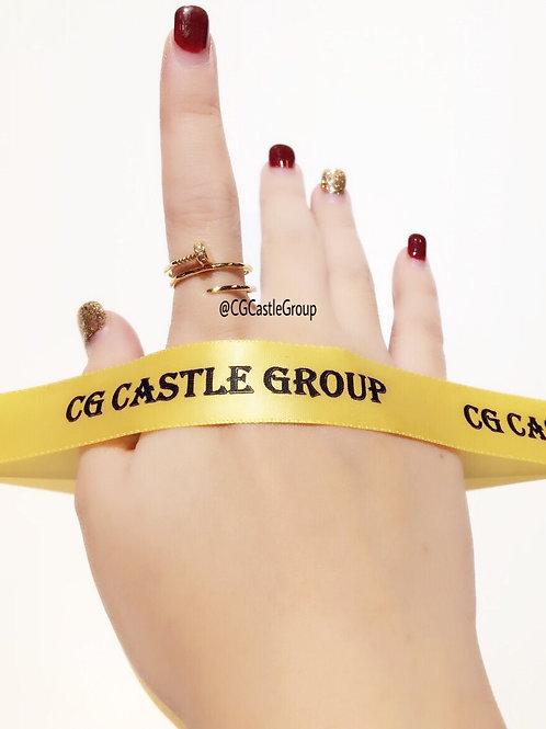 CG 3-Layer Nail Crystal Ring Rosegold
