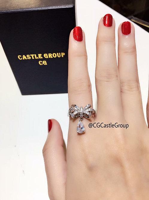 CG Ribbon 🎀Crystal Pendant Ring