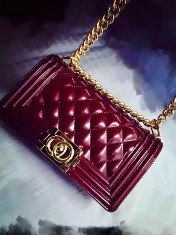CG Red Quilted Fashion Bag
