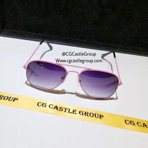 CG Kids Aviator Pink Frame Dark Purple Lens