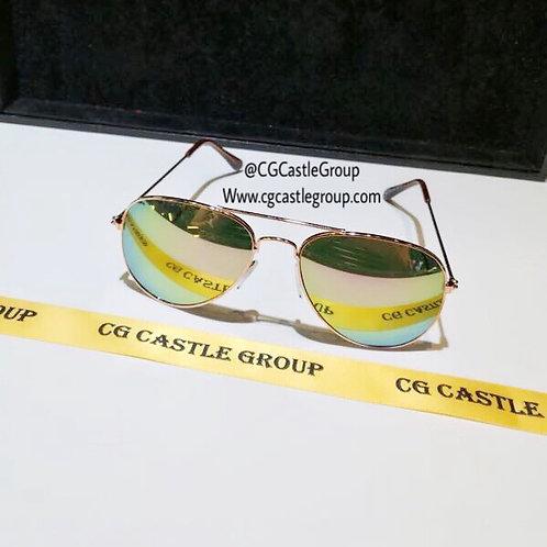 CG Adult Aviator Rosegold Frame/Pink Green Lens