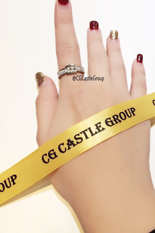 CG Single Layer Belt Ring Silver