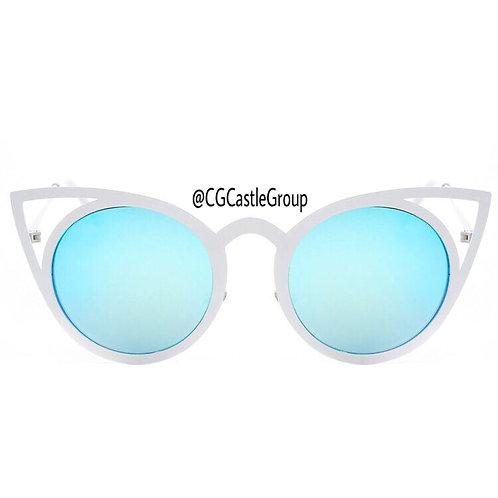CG Adult Owl White Frame Blue Lens