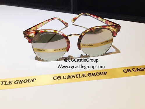 CG Adult Korean Half Red Frame/Silver Lens