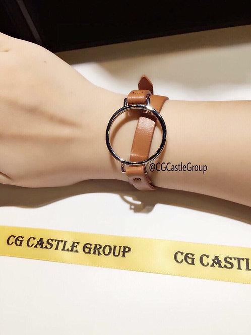 CG Round Korean Leather Bracelet Brown