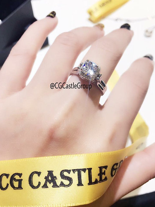 CG Reversible Solitaire Crystal Ring