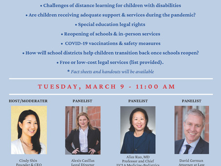 Join Us for a Webinar on the Impact of School Closures on Children with Disabilities
