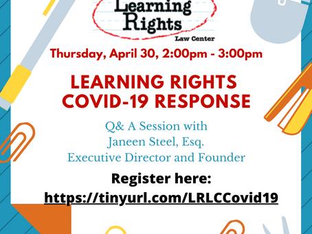 COVID-19 Q&A - April 30th 2:00pm