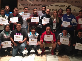 Instructor de Fundación Real Madrid imparte capacitación a entrenadores de Fundación Grupo Bafar.