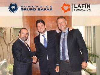 Firman Fundación Grupo Bafar y Fundación LAFÍN, convenio  para beneficiar a niños y niñas en situaci