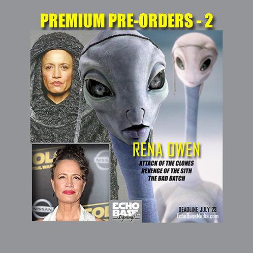 RENA OWEN Autograph Pre-Order - PREMIUM Star Wars 8x10s Signed
