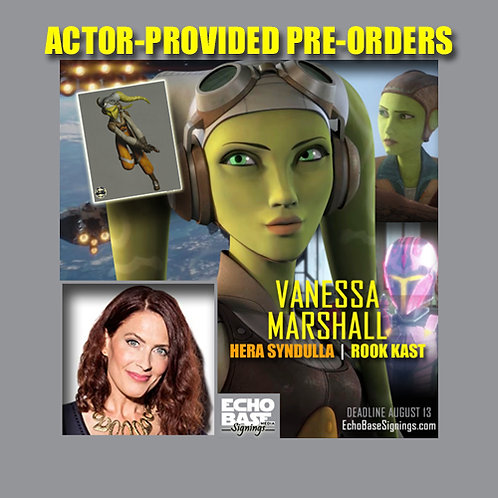 VANESSA MARSHALL Autograph Pre-Order - Actor-Provided 8x10s Signed