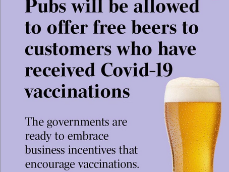 Opinion Piece: discussions around PM & Health Minister Hunt's latest ''free-booze-for-jab'' promo.