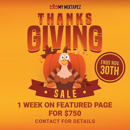 Thanksgiving Sale (Front Page)