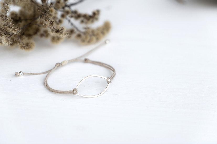 Silber Oval Armband