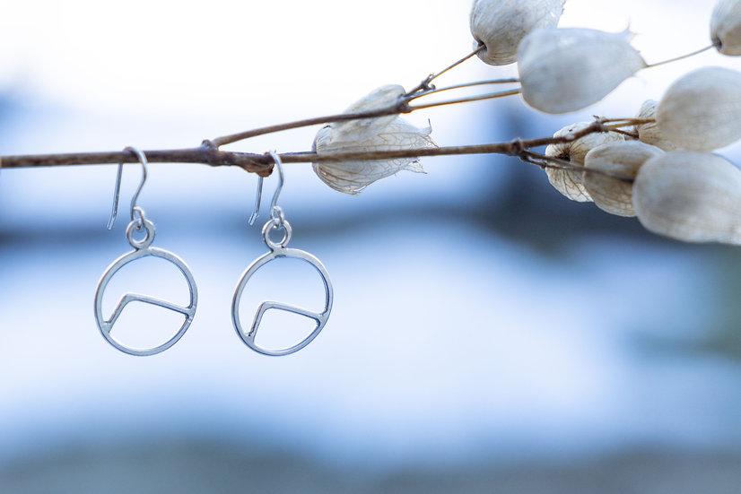 Silber Berg Ohrhänger