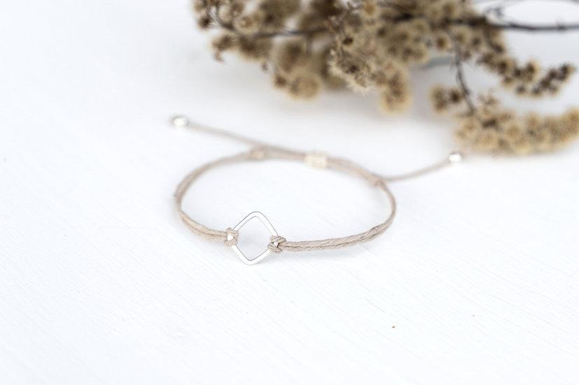 Silber Viereck Armband klein