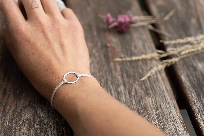 Silber Kreis Armband midi