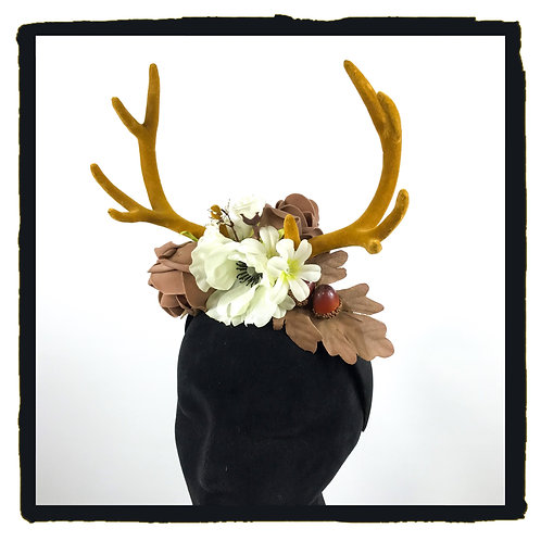 Natural woodland floral stag horns