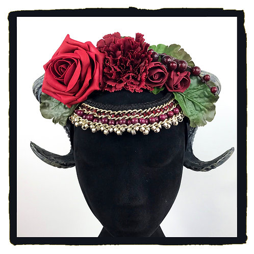 Red Rose and Berry Rams Horns