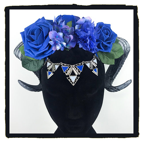 Blue rose Jewelled rams horns