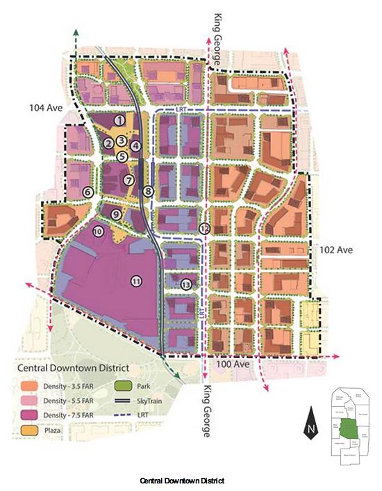 Surrey City Centre Central Downtown District Surrey Real Estate