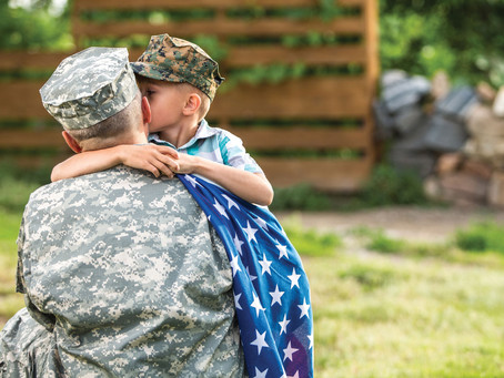 A spouse's perspective on a veteran coming home from multiple military deployments.