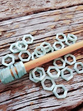 Minty Stitch Markers
