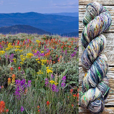 ***Dyed to Order*** Wildflowers in Crested Butte