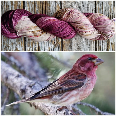 *** Dyed to Order*** Purple Finch