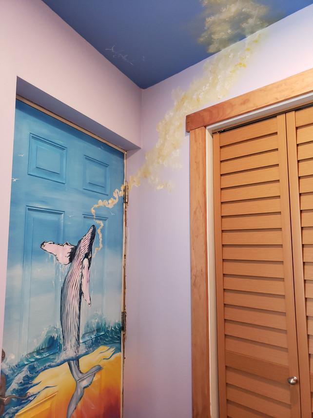 Mural artwork in a home in Panama city beach, FL!