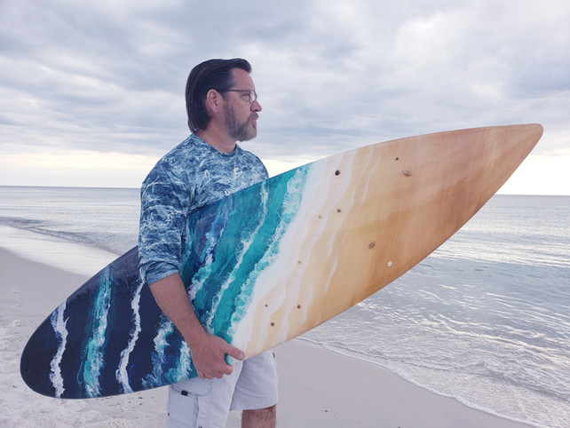 Epoxy Poured 6ft Surfboard by David Hansel!