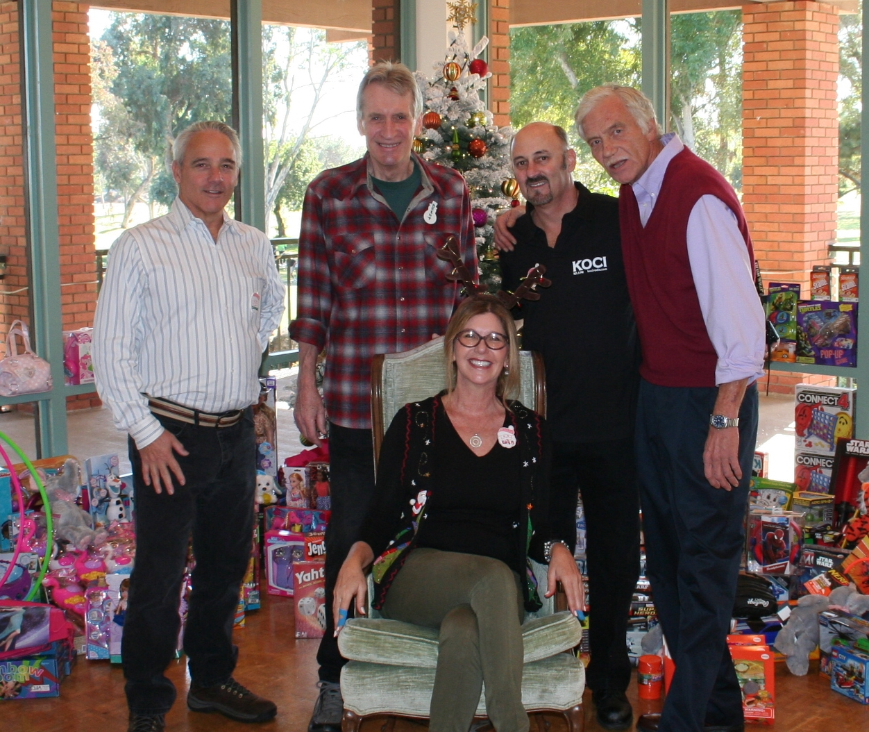 KOCI staff L-R; Doug Bender, Brent Kahlen, Tom Neas, Brian Helvey and Barbara Davis seated