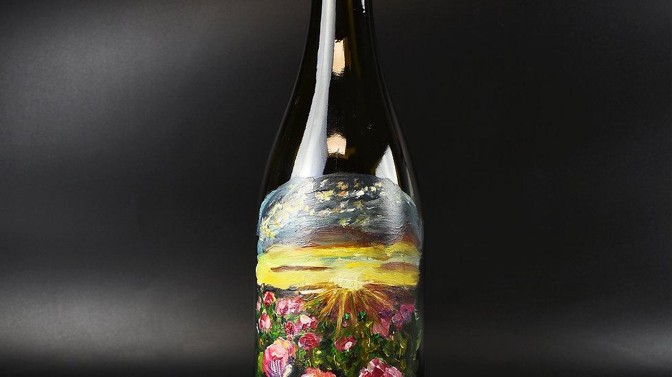 Flower Field on 750ml bottle