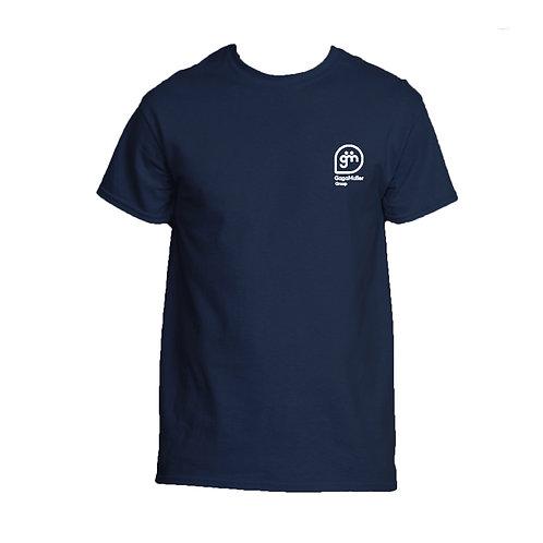 Navy T-Shirt - Stacked Logo - Small