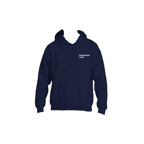 Navy Hoodie- Text only - Small