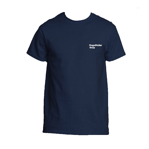 Navy T-Shirt - Just Text - Small