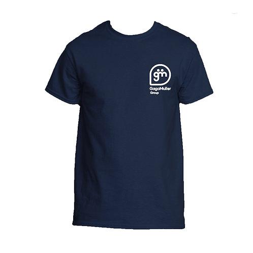 Navy T-Shirt- Stacked Logo - Big