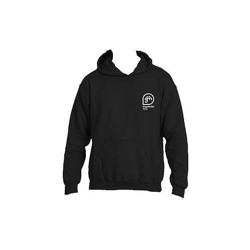 Black Hoodie - Stacked logo - Small