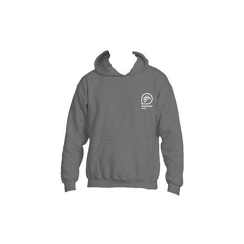 Dark Grey Hoodie - Stacked logo - Small