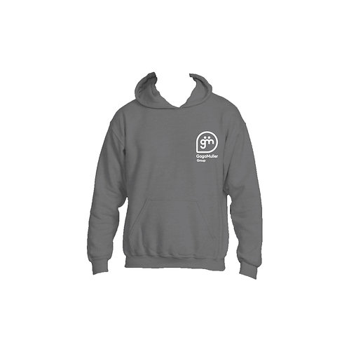 Dark Grey Hoodie - Stacked logo - Large