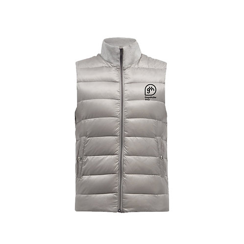 Light Grey Gillet- Stacked logo - Small