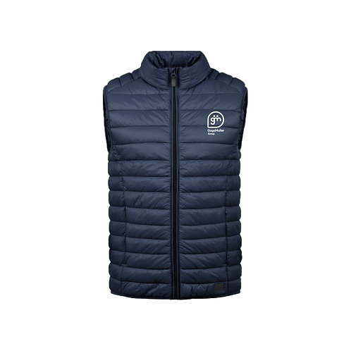 Navy Gillet - Stacked logo - Small