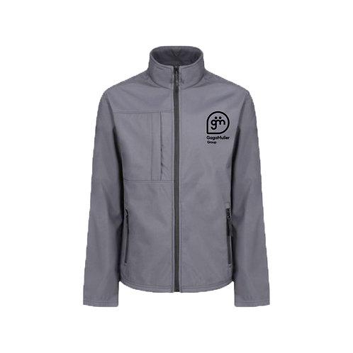 Light Grey Jacket- Stacked logo - Large