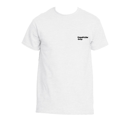 White T-Shirt  - Just Text - Small